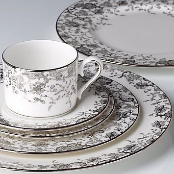Marchesa French Lace Dinnerware Place Setting by Lenox  sc 1 st  Pinterest & This Marchesa by Lenox pattern French Lace features an intricate ...