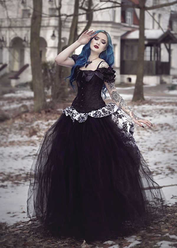 Black Gothic Victorian Long Prom Dress D1020 in 2020 ...