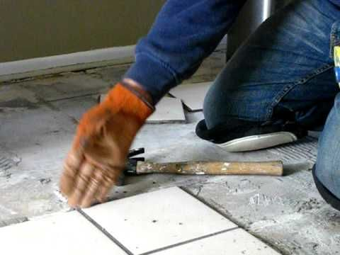 Remove Tile Flooring Easily Home Sweet Projects Pinterest