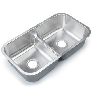 Designer Collection Stainless Steel Low-divide Equal Double-bowl ...