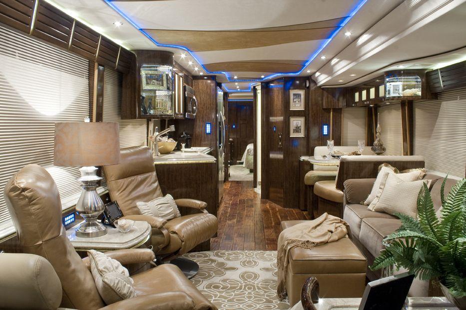 Inside Luxury Tour Bus Inside of the big tour...