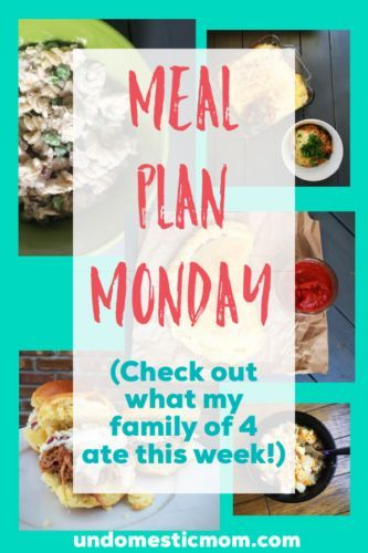 Meal Plan Monday images