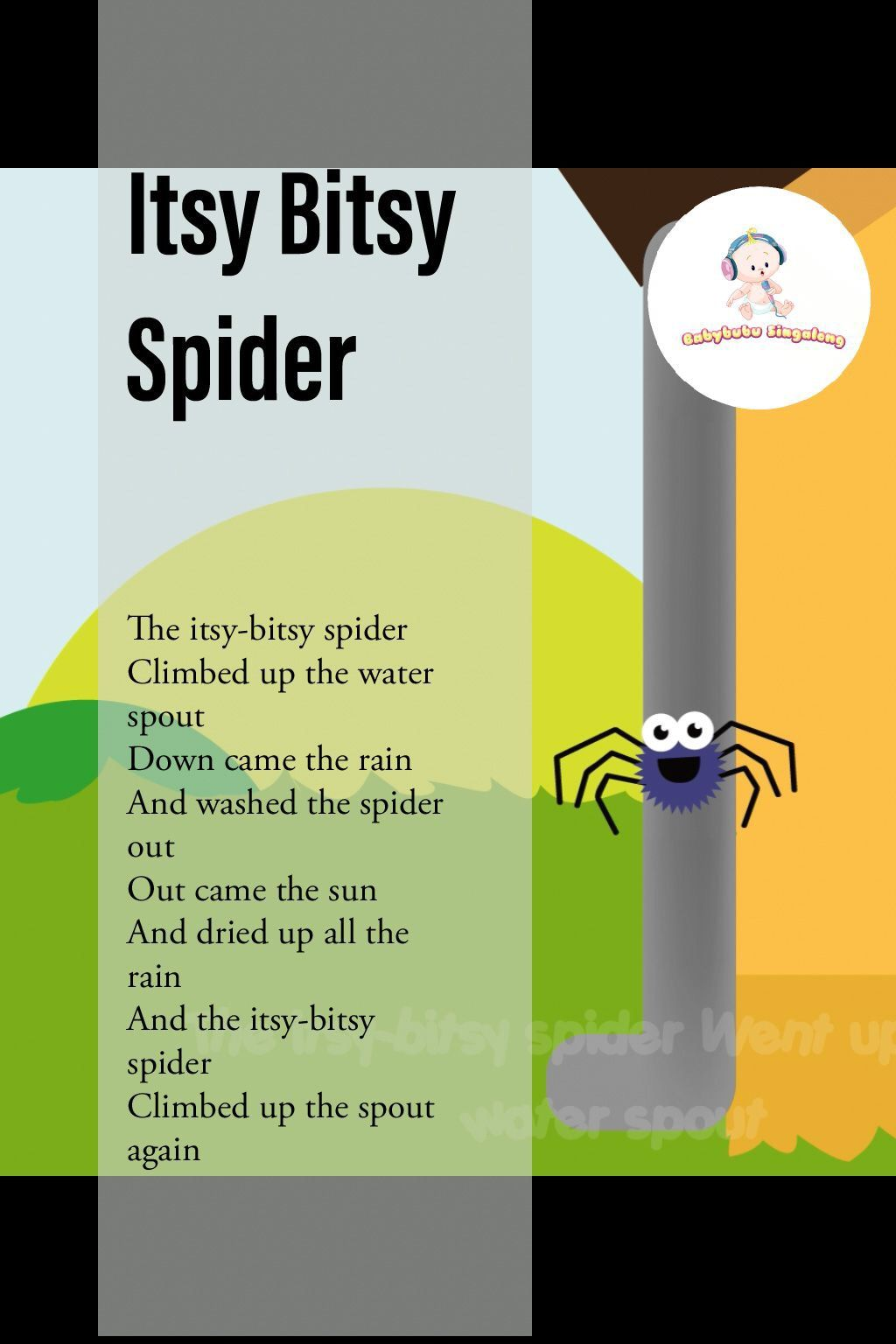 Itsy Bitsy Spider Lyrics Nursery Rhymes Lyrics Nursery Songs Rhymes Video