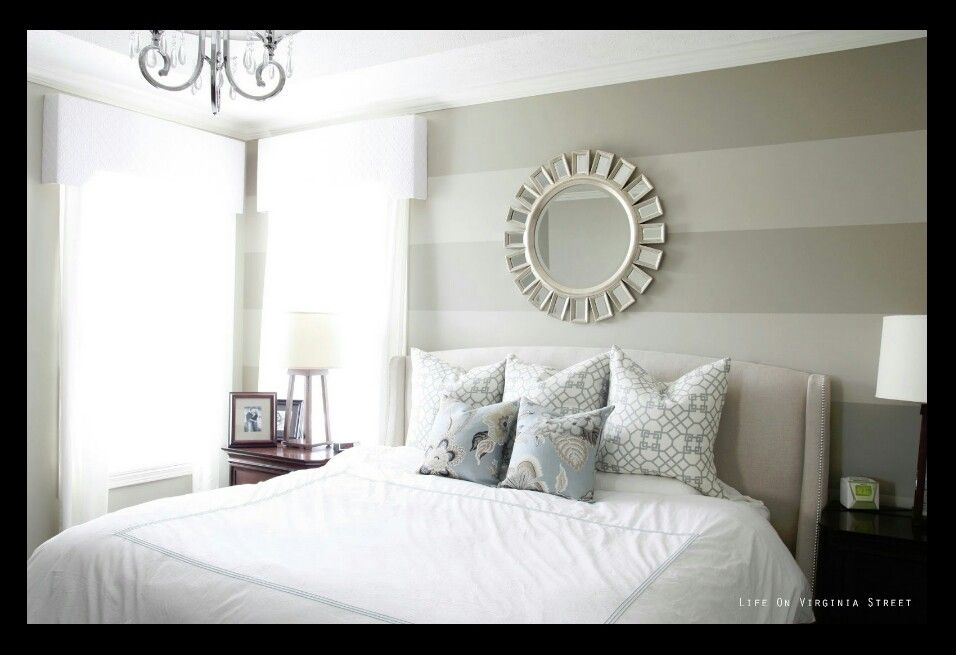 Light Gray Striped Wall | Remodel bedroom, Guest bedroom ...
