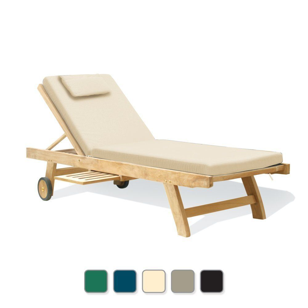 Lovely Best Buy Teak Garden Sun Lounger Hardwood Sun Bed With Deluxe Ecru /  Natural Sunbed Cushion (6cm Thick)   Jati Brand, Quality U0026 Value:  Amazon.co.uk: Garden ...