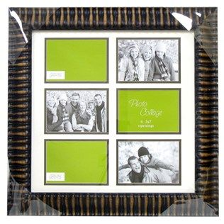 Green Tree Gallery 5 X 7 Ribbed Collage Frame With 6 Openings