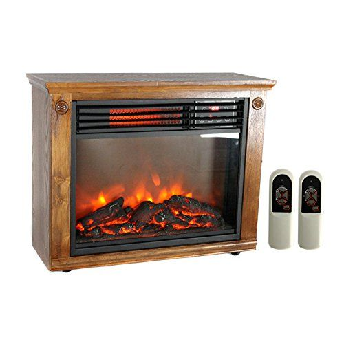 Lifepro 3 Element Portable Electric Infrared Quartz Fireplace Heater Ls 1111hh Portable Fireplace Fireplace Heater Infrared Fireplace