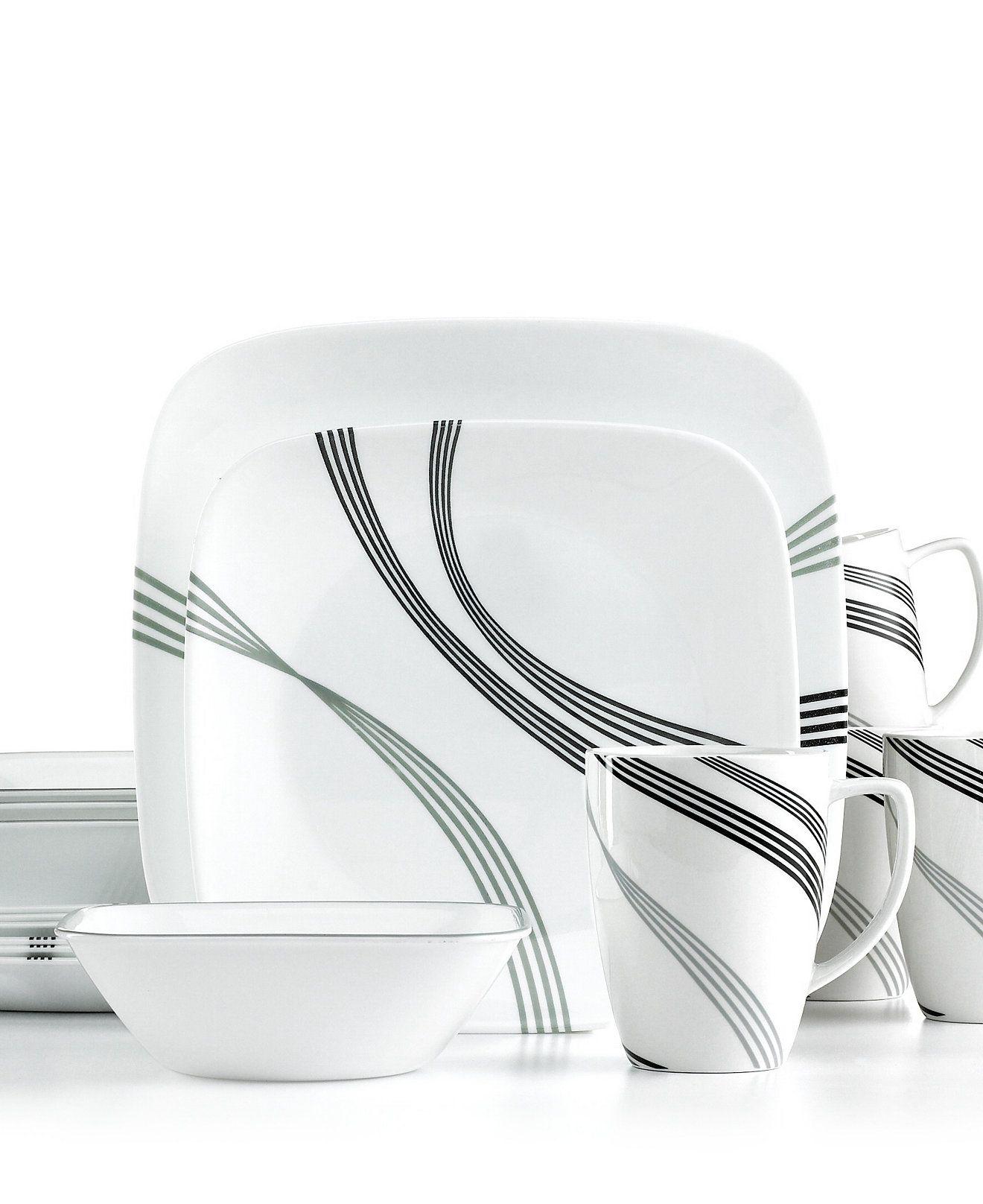 Urban Arc 16 Pc Set Service For 4 Corelle Dinnerware
