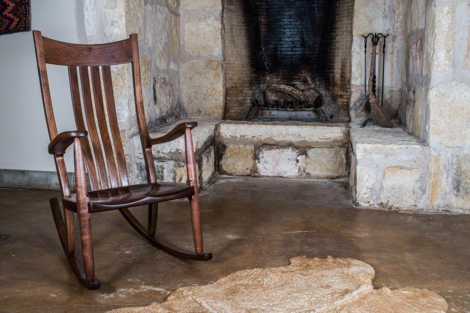 Walnut Rocking Chair By Fireplace Rocking Chair Walnut Rocking Chair Chair
