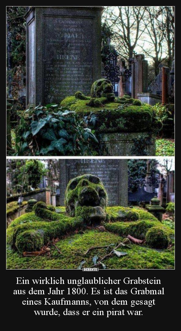 Ein wirklich unglaublicher Grabstein aus dem Jahr 1800. Es..