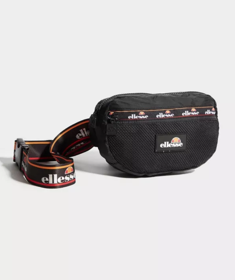 6a32e60565 Keep your essentials slick and close by with this Revan Waist Bag from  Ellesse. In a bold black colourway