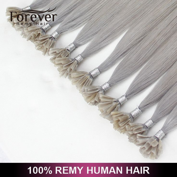 Forever Keratin 100 Cheap Straight Remy Human #silver U Tip Hair Extension Wholesale - Buy U Tip Hair,U Tip Hair Extension,U Tip Hair Extension Wholesale Product on http://Alibaba.com