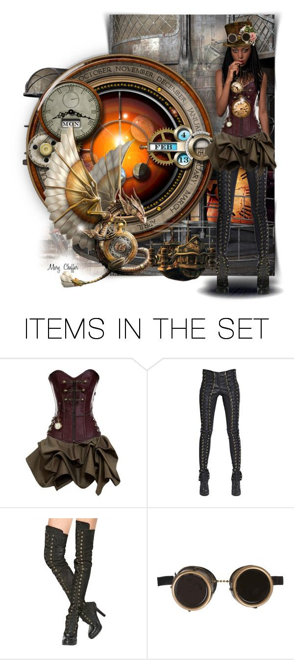"""""""The Time Keeper"""" by mcheffer ❤ liked on Polyvore featuring art"""