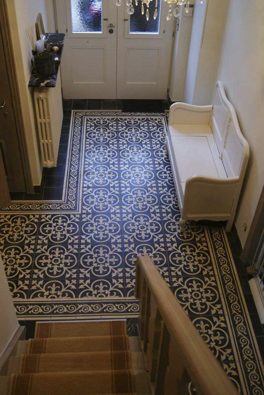 Floor Tile Cement Polished Mosaic Look La Maestria Tiled
