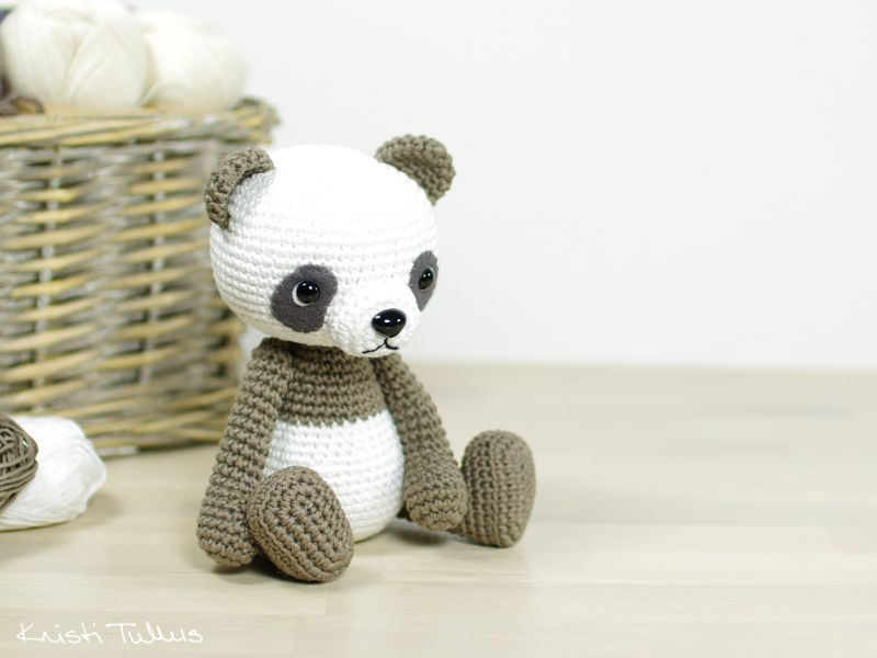 crocheted panda pattern | Crochet.Amigurumi | Pinterest