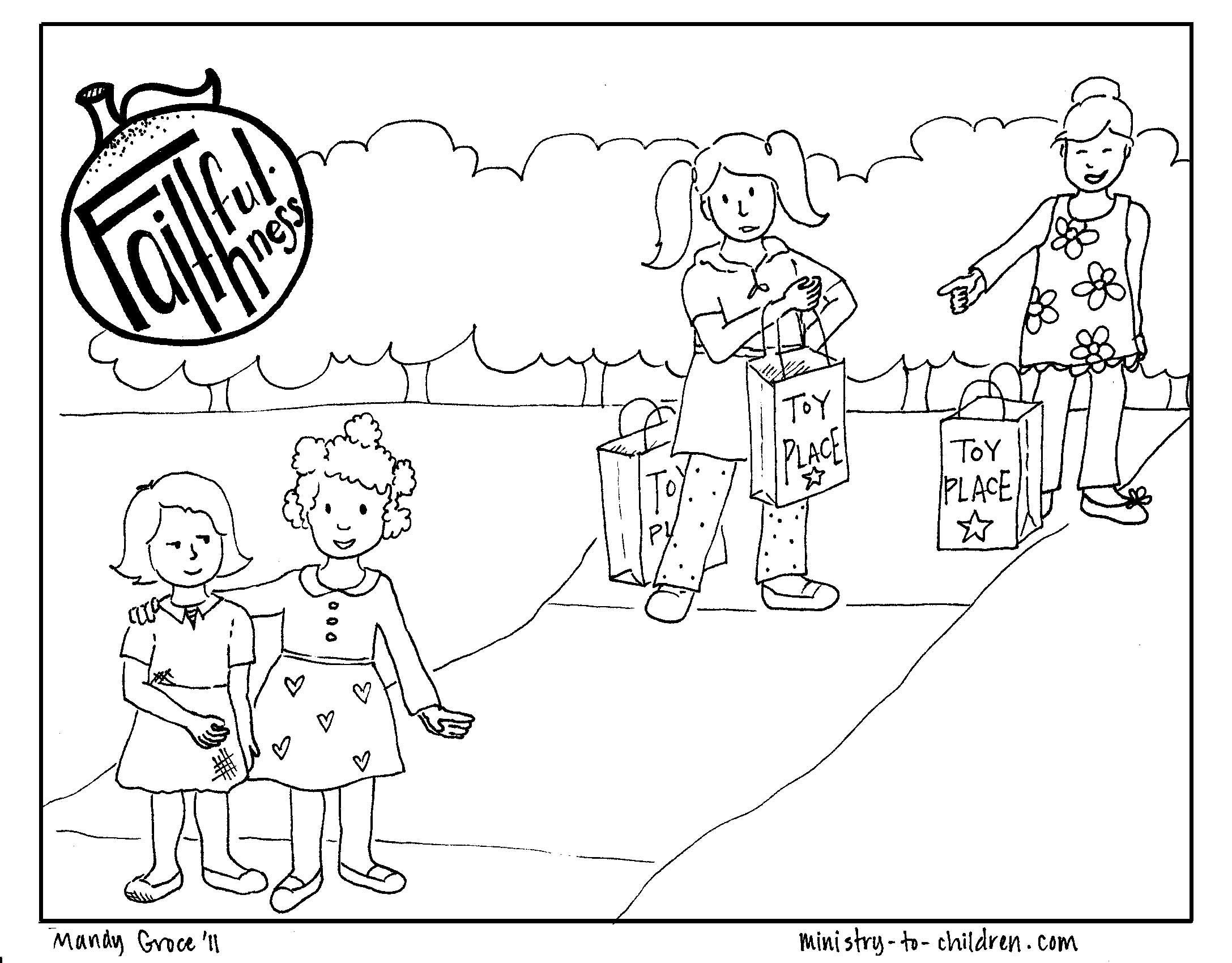 Faithfulness fruit of the spirit coloring page