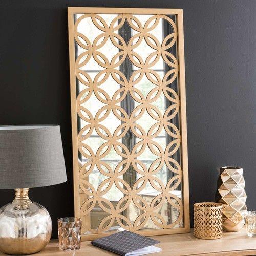 gallery of miroir en mtal dor linden maisons du monde with maisons du monde miroirs. Black Bedroom Furniture Sets. Home Design Ideas