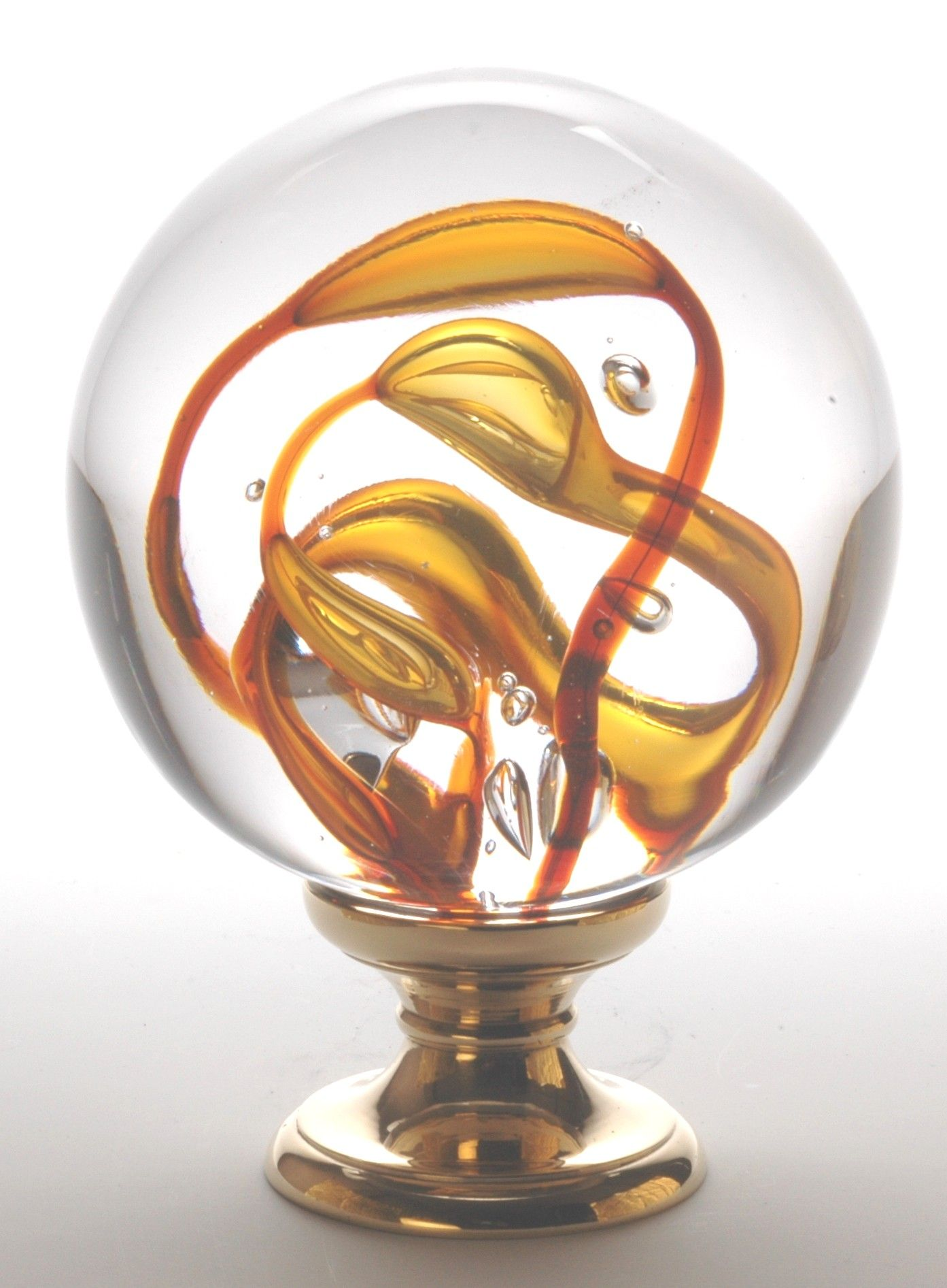 boule d 39 escalier verre souffl tubes de bulles orange collection poign e verre souffl boules. Black Bedroom Furniture Sets. Home Design Ideas