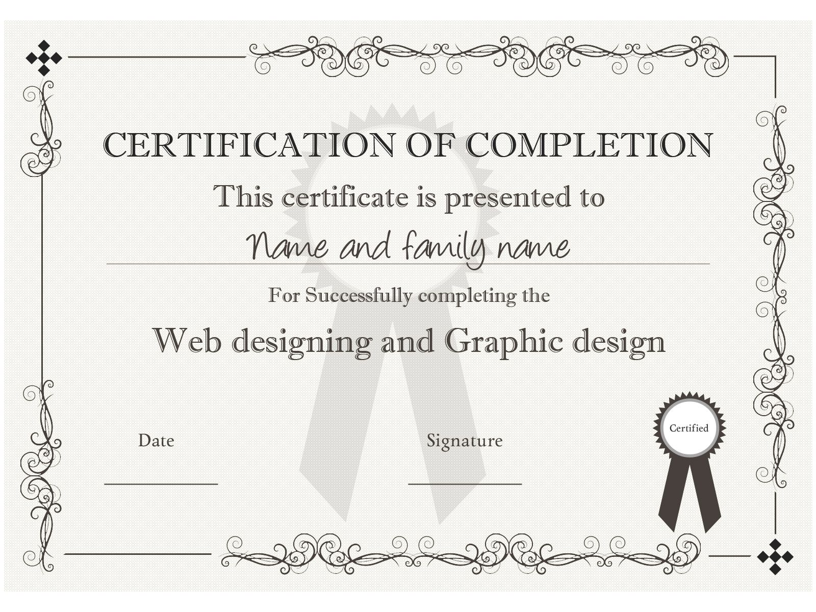 Example Certificate Template You Can Download This One And