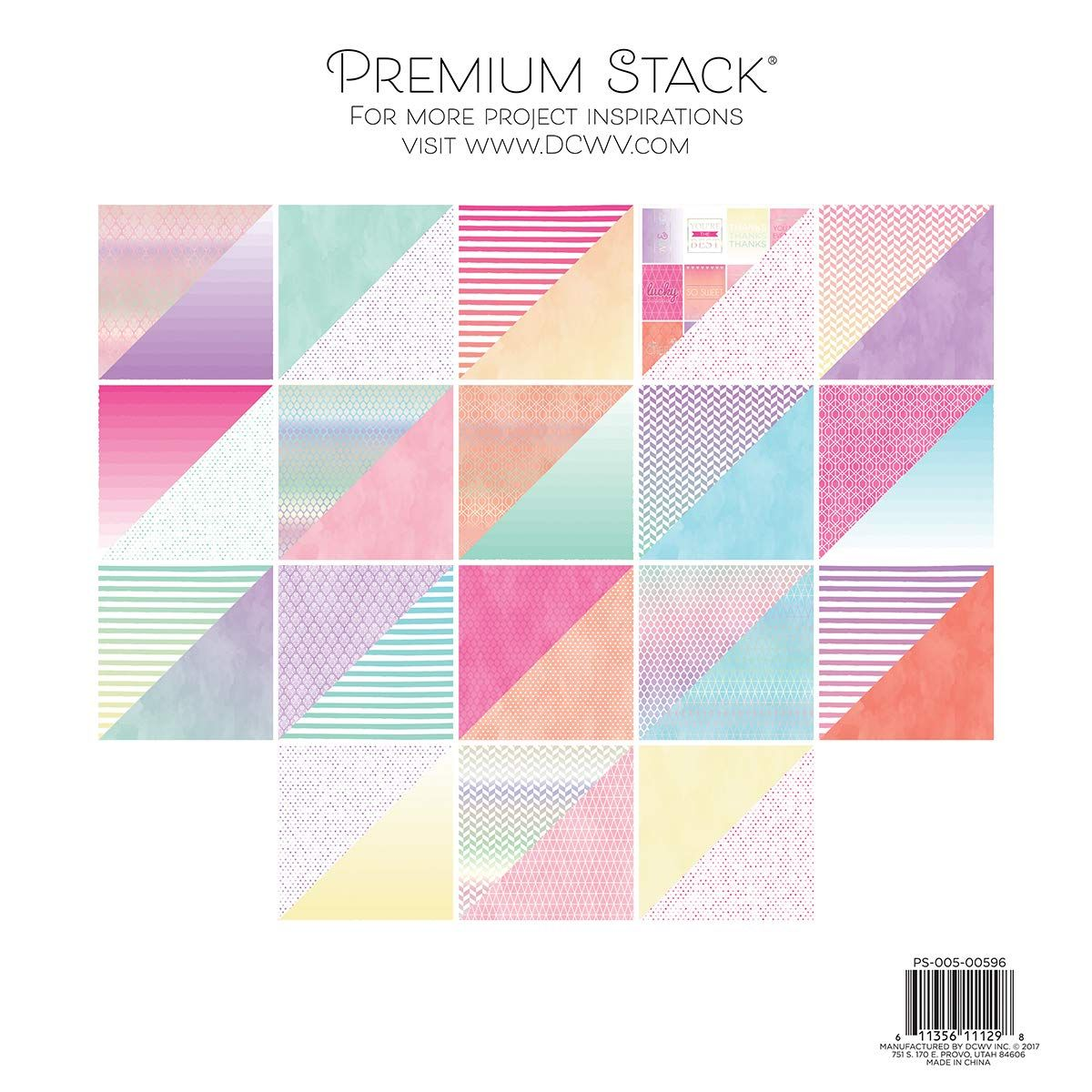 Dcwv Card Stock 12 X12 Watercolor Ombre Premium Printed Cardstock