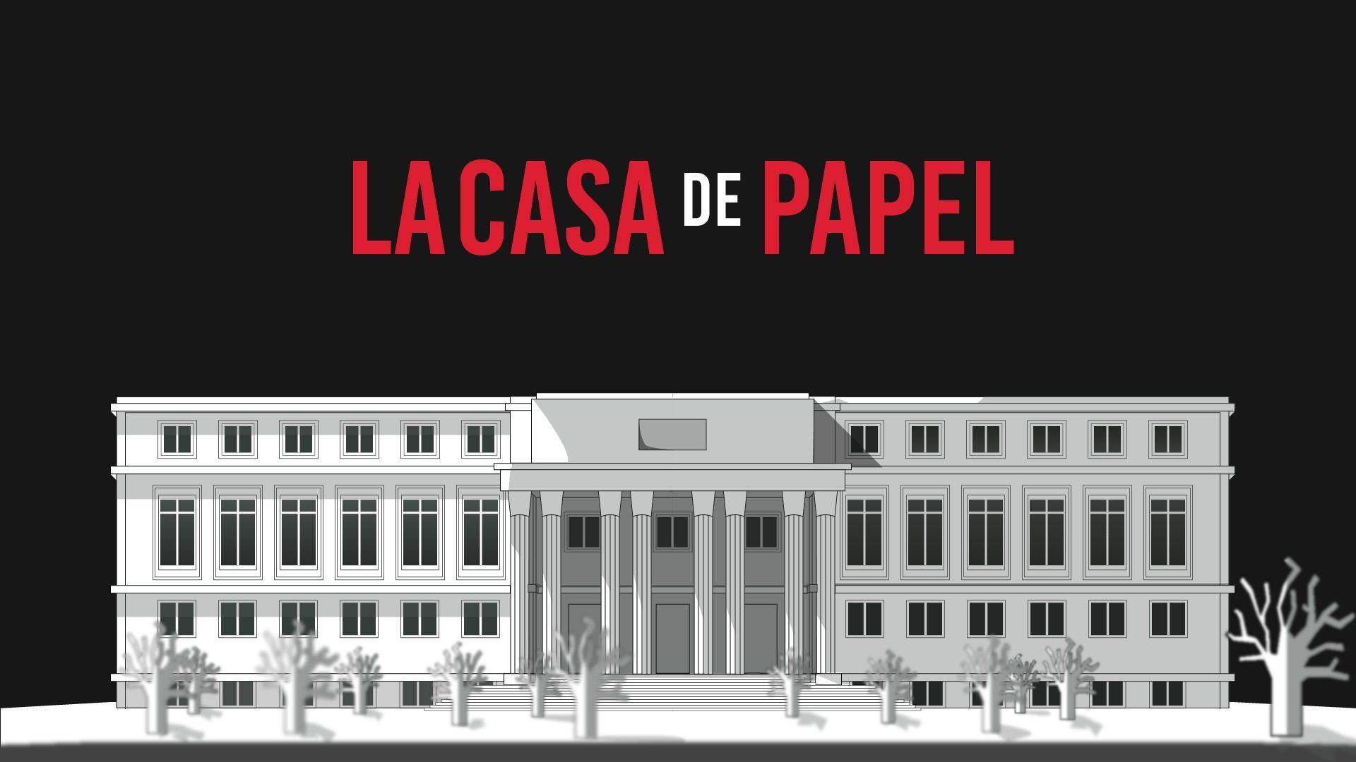 Programa De Tv La Casa De Papel Papel De Parede Casa De Papelao