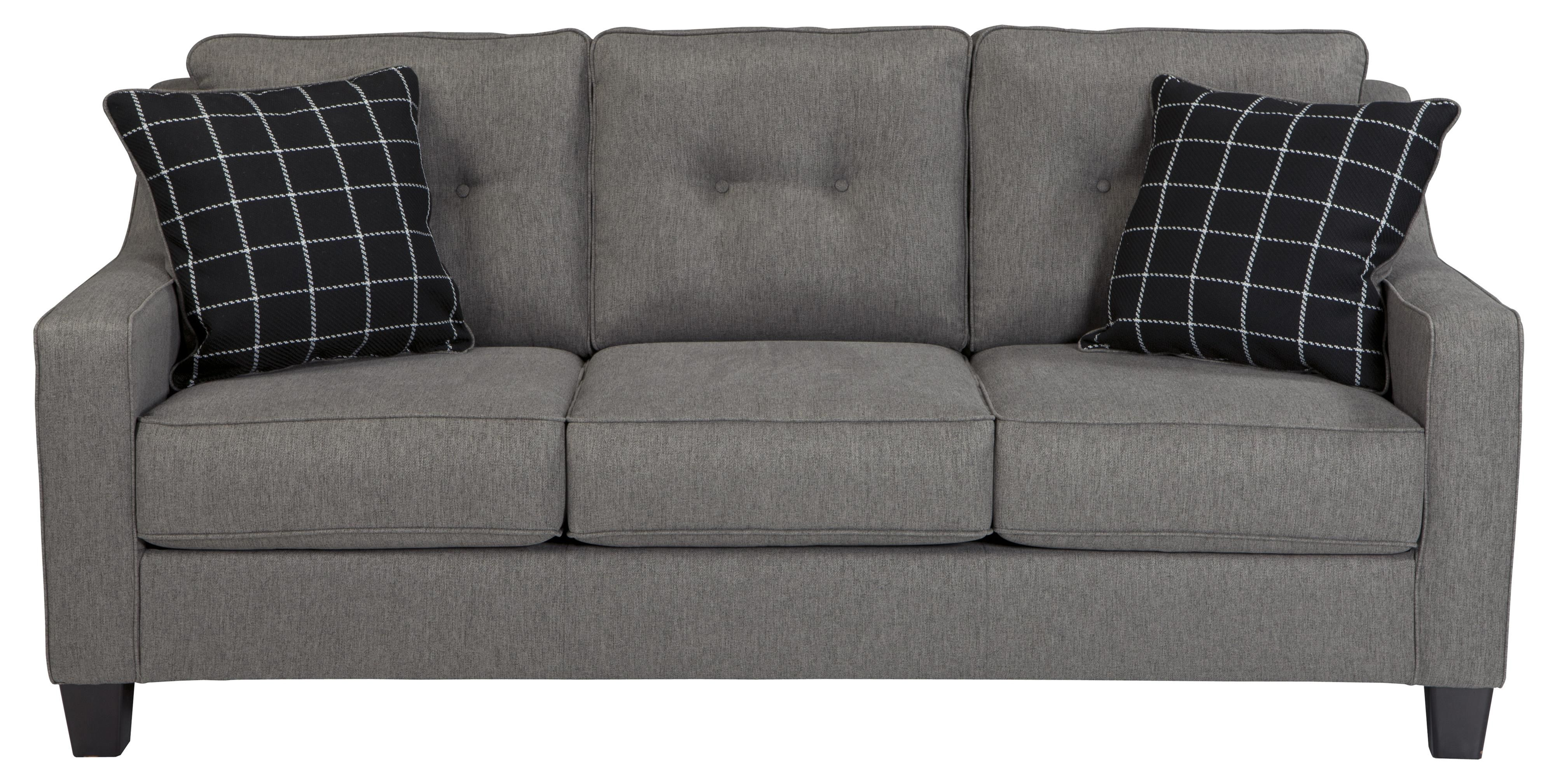 Brindon Contemporary Queen Sofa Sleeper with Track Arms Tufted