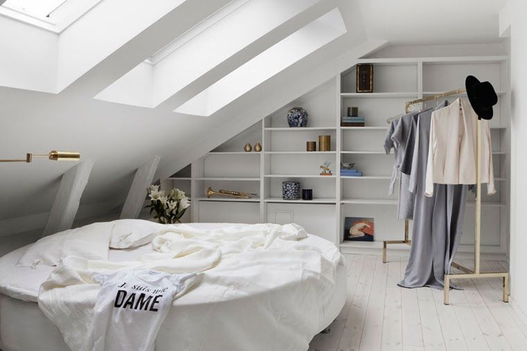Slaapkamer Ideeen Dames : Frank gästar mes dames angled wall w built in shelving angled
