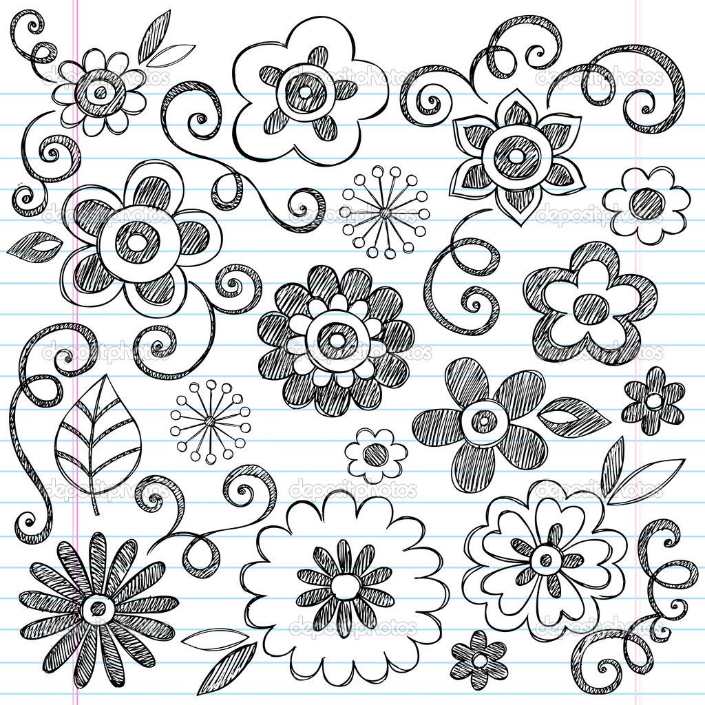 The same by a customized doodles flowers supplies many up for Designs for drawing easy