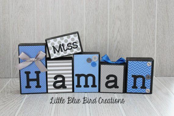 Personalized Teacher gift - teacher block set- wood letters - gift letters