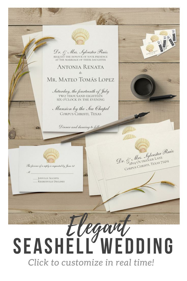 Perfect for #ocean or #beachwedding invitations! Customize in real ...