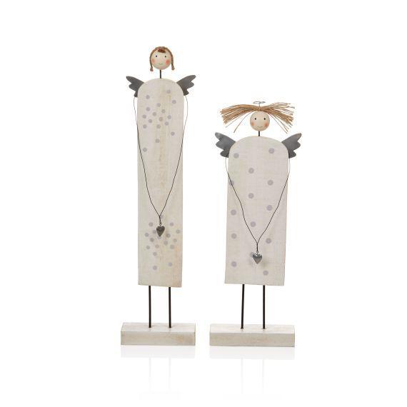 deko engel set 2 tlg holz vorderansicht anio y. Black Bedroom Furniture Sets. Home Design Ideas