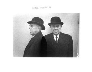 Rene Magritte (Profile and Full Face)