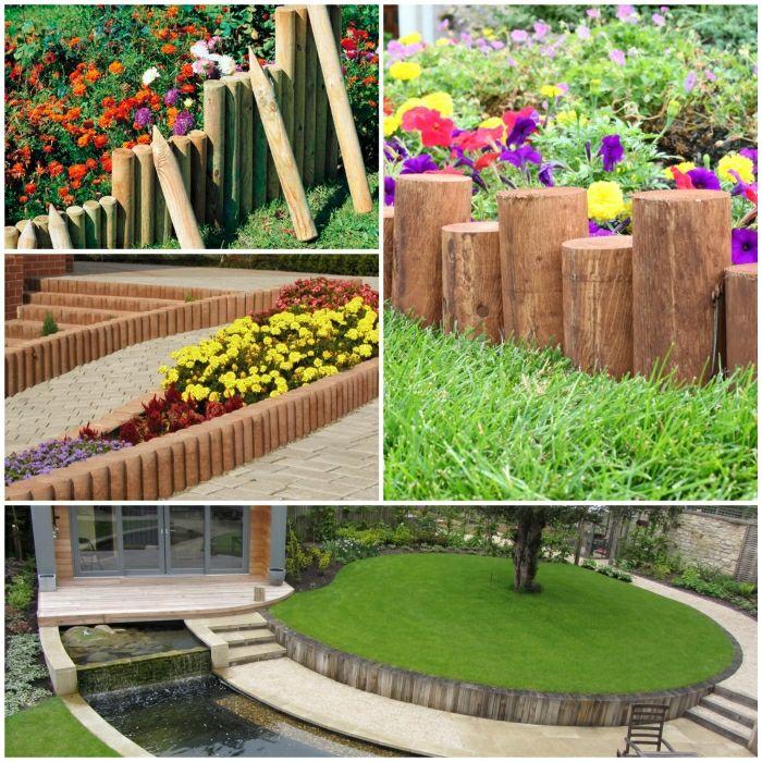 Holzpalisaden Gartenideen Garten Gestalten Palisaden Holz