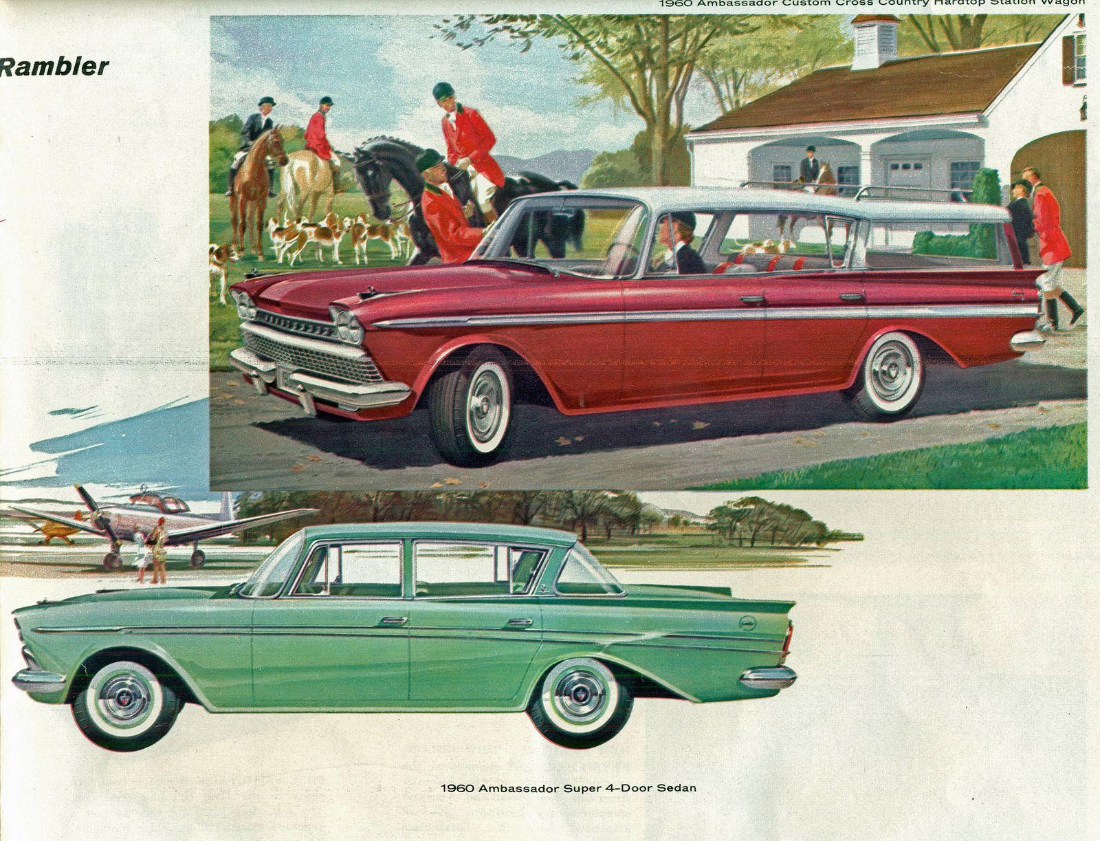 1960 American Motors Rambler Ambassador Cross Country 4 Door Hardtop Station Wagon and Ambassador Super 4 Door Sedan | by coconv