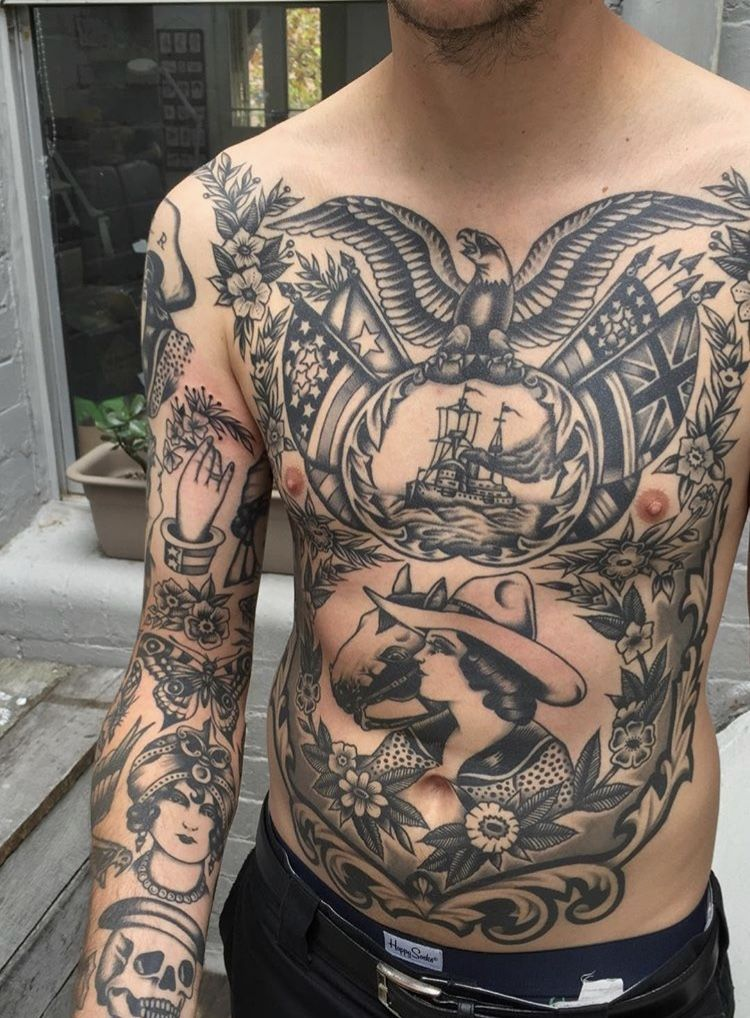 Body Art Repin Torso Tattoos Traditional Back Tattoo Traditional Tattoo Art