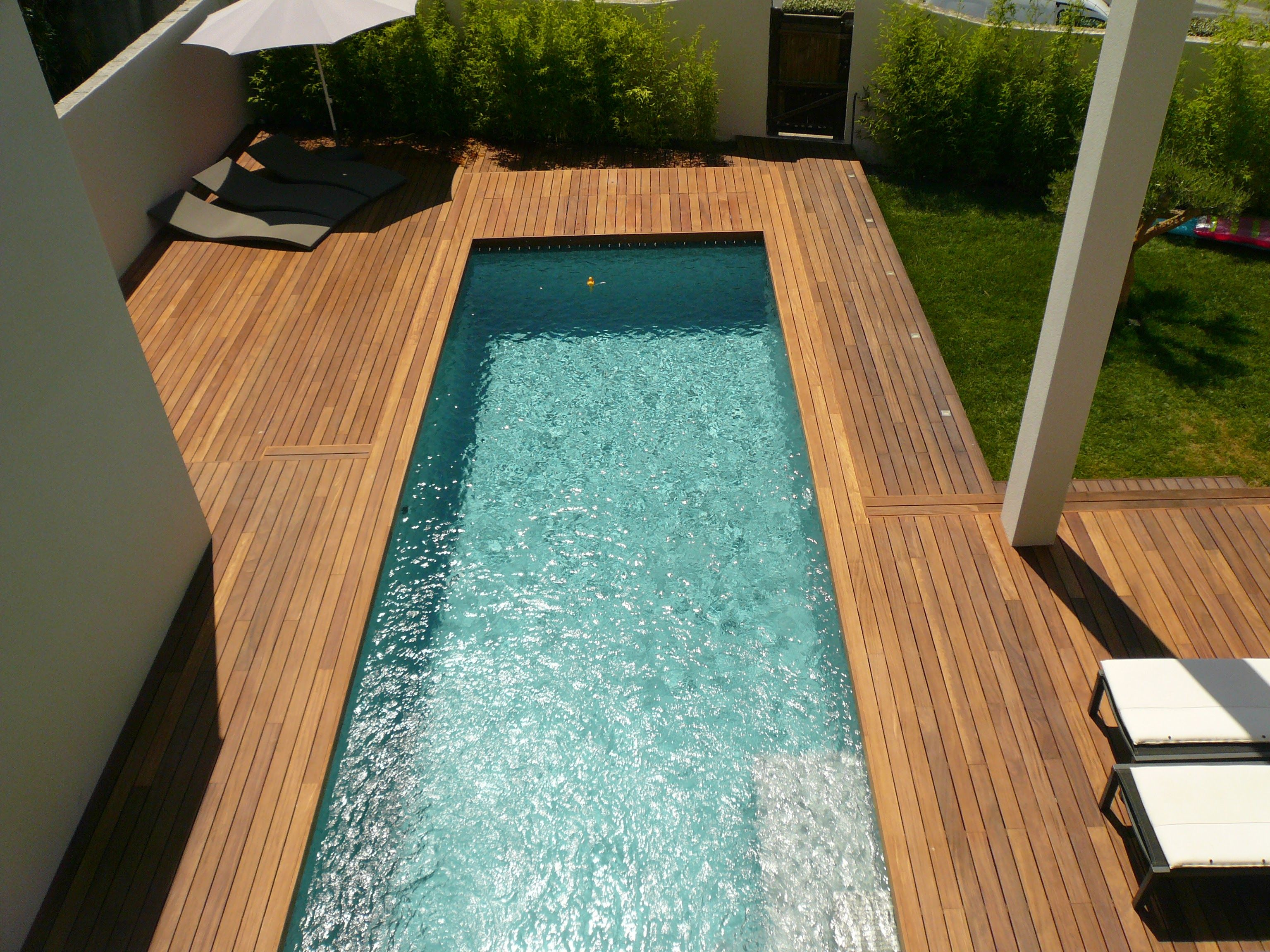 Amenagement De Terrasse De Piscine En Bois Exotique Ipe Visserie