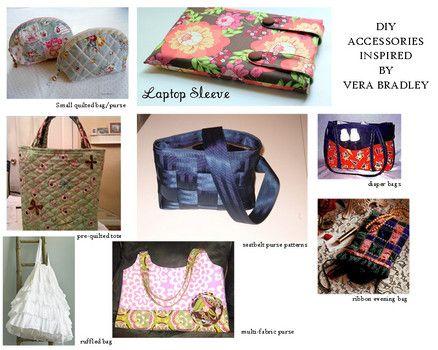 0ebab0d4c9 DIY quilted bags- Vera Bradley inspired bags