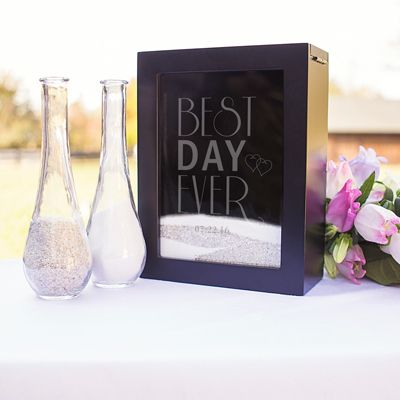 Personalized Best Day Ever Unity Sand Ceremony Shadow Box Set