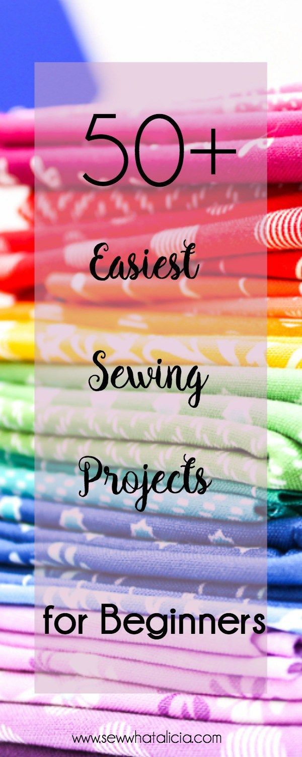 50+ Easy Sewing Patterns and Tutorials: This is the best collection of easy sewing patterns for beginners and sewing newbies. Click through for a full list of beginner sewing tutorials. #sewing #sewcialists #sewist #sewingforbeginners #sewingtutorials #ea