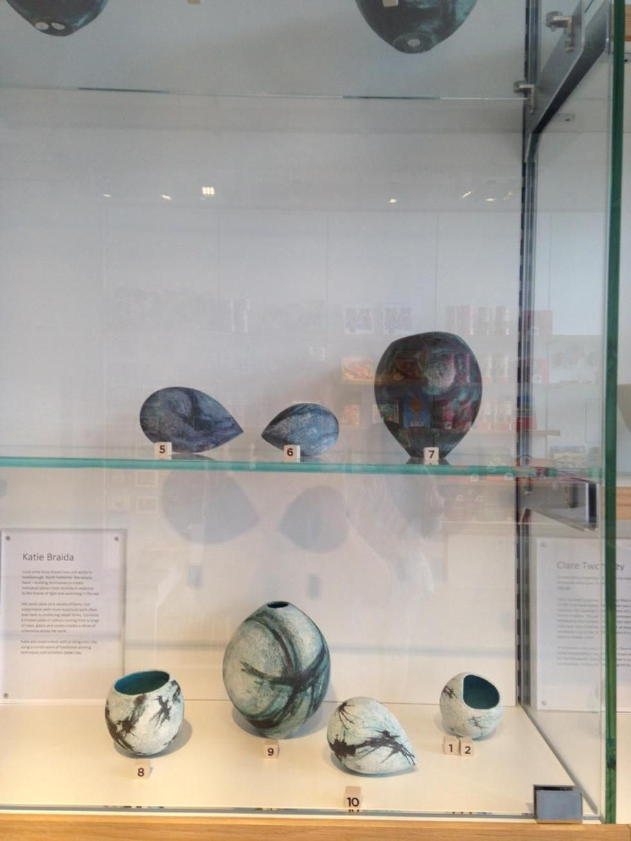 Lara G & John W C ‏@northseaswimmer - Check out Katie Braida's pots inspired by #sea swimming on sale @COCAYork