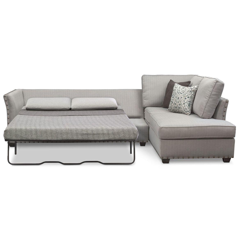 Mckenna 2 Piece Queen Sleeper Sectional And Chair Set Sleeper Sectional City Living Room Mattress Sofa