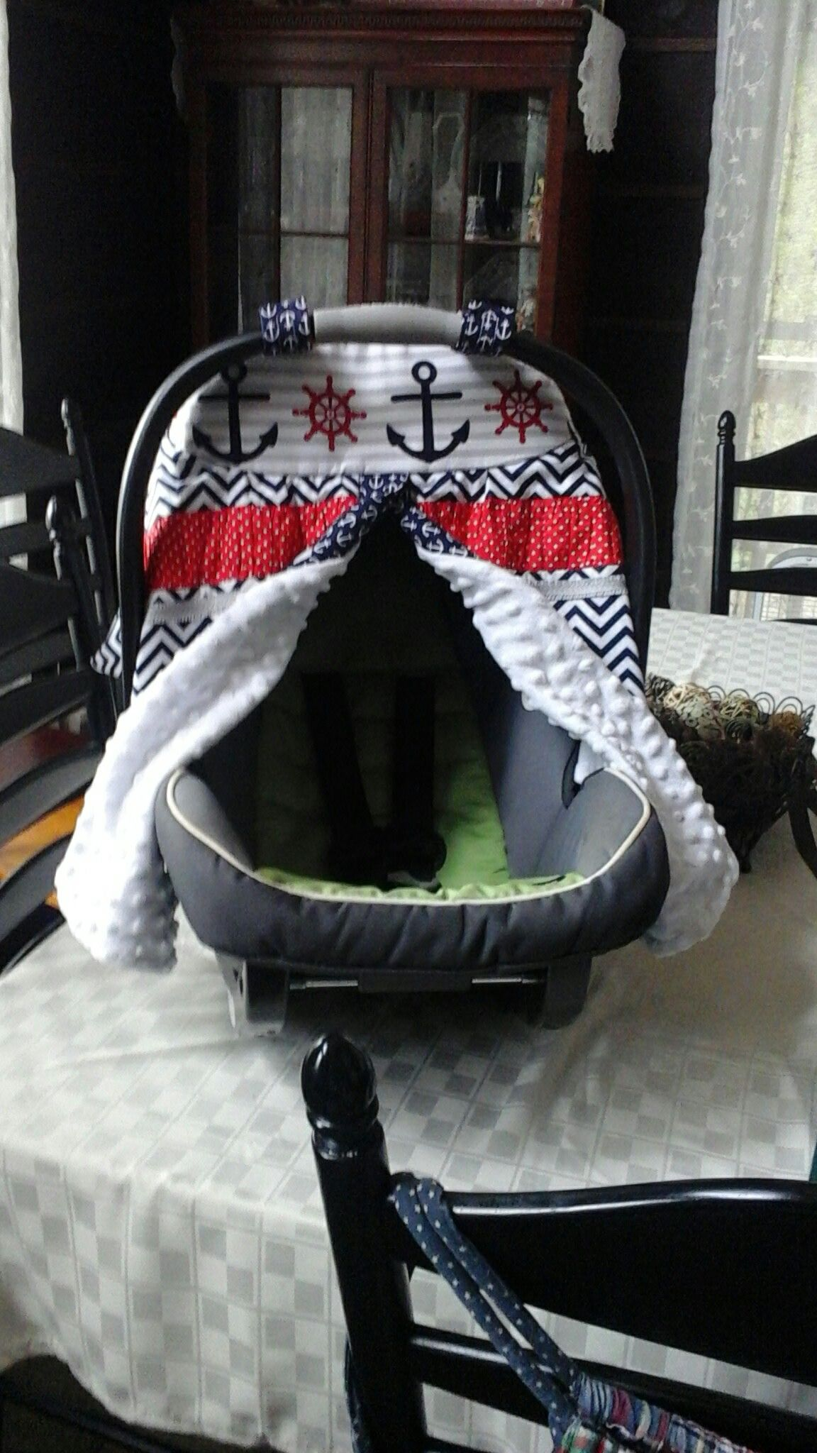 Car seat cover with front opening. sewing Car seats