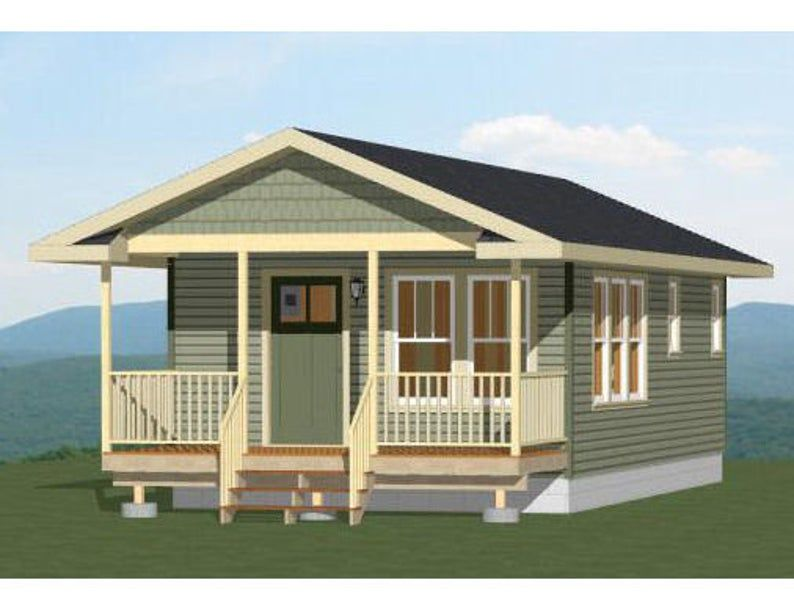 16x32 House -- 1-Bedroom 1-Bath -- 511 sq ft -- PDF Floor ...