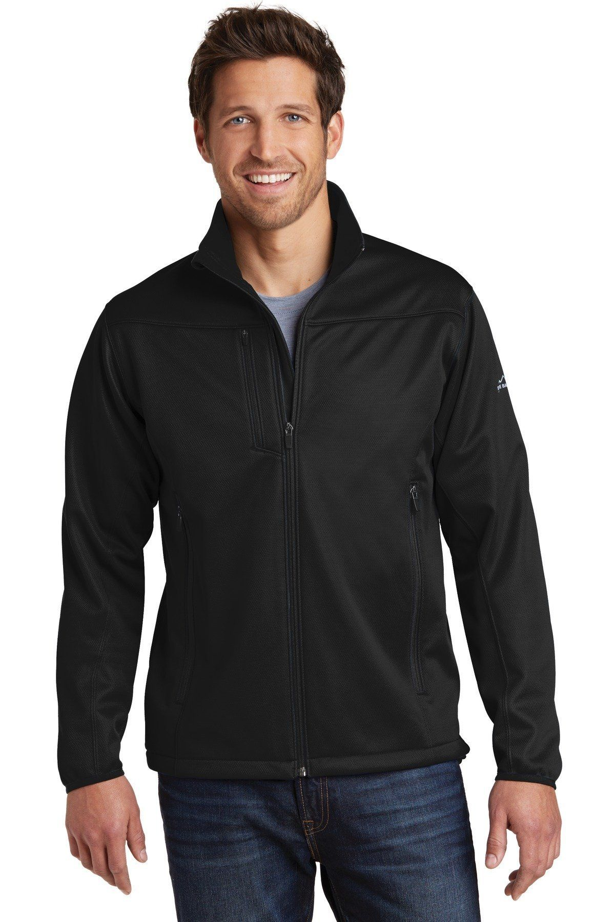 Eddie Bauer WeatherResist Soft Shell Jacket. EB538 Black