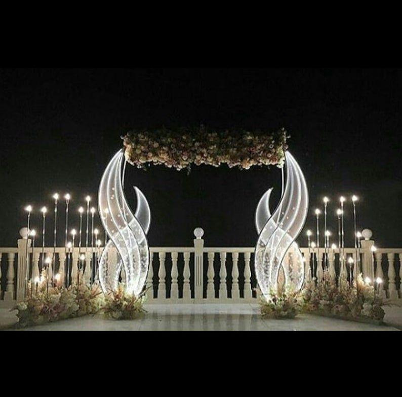 Set of 2 pcs Wedding Light stand Light Wedding dec
