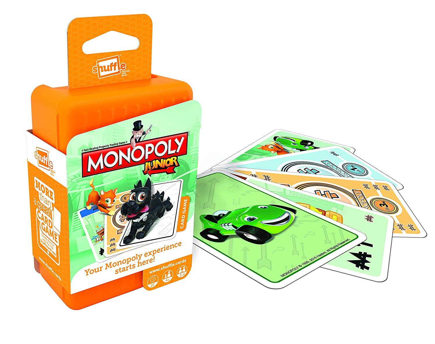 Shuffle Monopoly Junior Children's Card Game Monopoly