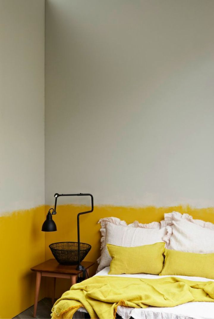 Pareti Dipinte Per Camere Da Letto.Tendenza Casa Pareti Dipinte A Meta Arredamento E Design Pareti