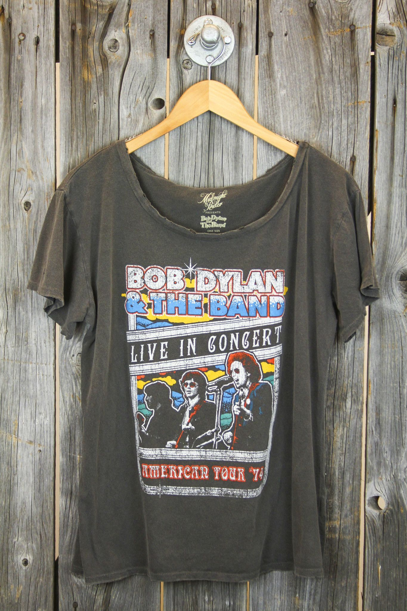MIDNIGHT RIDER 'Bob Dylan & The Band' Boyfriend Tee