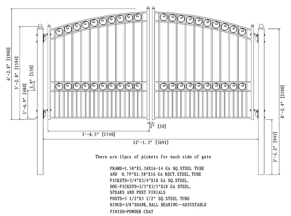Buy Steel Dual Swing Driveway Gate Paris Style 12 X 6 Ft Aleko Driveway Gate Entrance Gates Design Gate