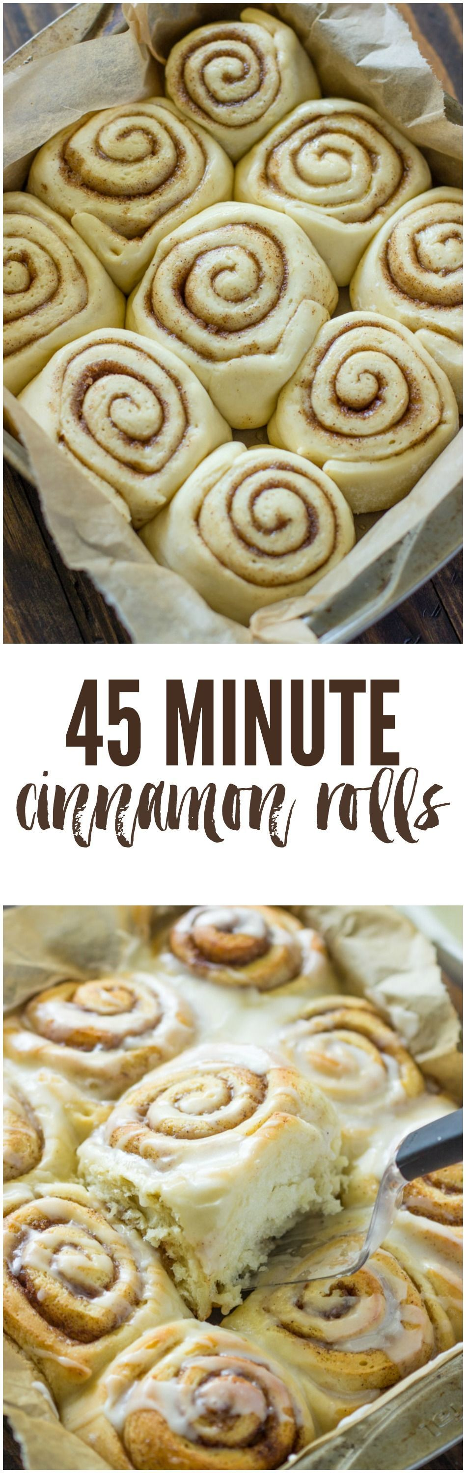 and soft cinnamon rolls taste even better than Cinnabon and are ready in just 45 minutes!